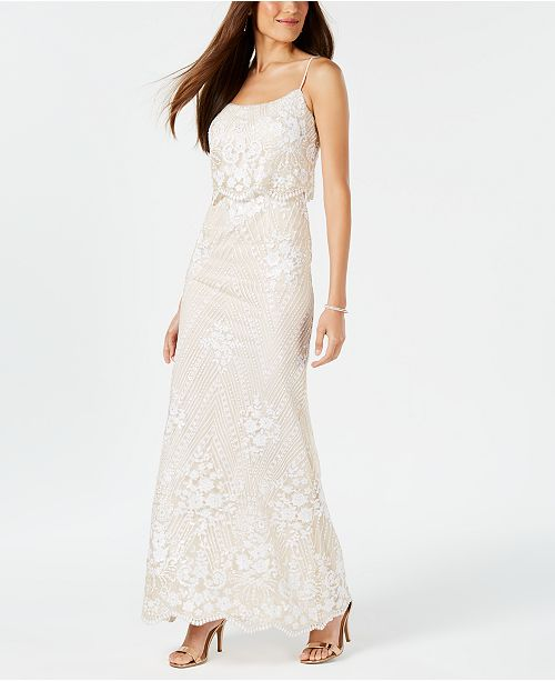 aa99bd54 Adrianna Papell Sequined Popover Gown; Adrianna Papell Sequined Popover Gown  ...