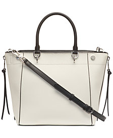 Calvin Klein Susan Saffiano Leather Satchel