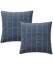 Crosshatch Quilted Pair of European Shams