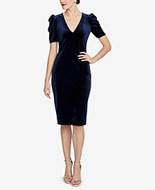 RACHEL Rachel Roy Ruched Velvet Dress
