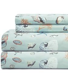 Coastal Embroidered 4-Pc. King Sheet Set