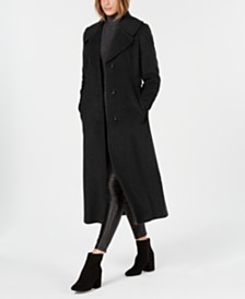 Calvin Klein Petite Notch-Collar Maxi Coat