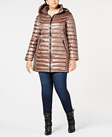 Calvin Klein Plus Size Hooded Puffer Coat