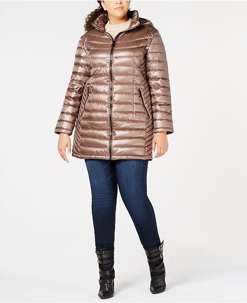 cdd7d349485 Calvin Klein Plus Size Hooded Puffer Coat   Reviews - Coats - Women ...