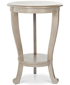 Mary Pedestal Side Table, Quick Ship
