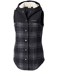 Columbia Plus Size Benton Springs™ Plaid Hooded Vest