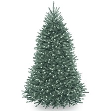 National Tree 6 .5' Dunhill®  Blue Fir Hinged Tree with Clear Lights