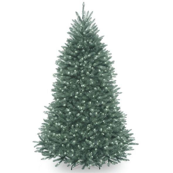 National Tree Company National Tree 6 .5' Dunhill®  Blue Fir Hinged Tree with Clear Lights