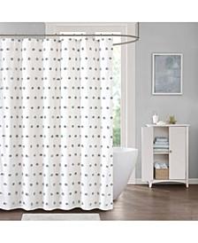 "Sophie 72"" x 72"" Pom Pom Shower Curtain"