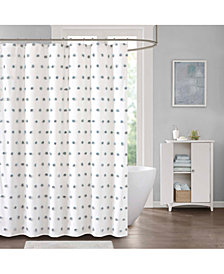 "Décor Studio Sophie 72"" x 72"" Pom Pom Shower Curtain"