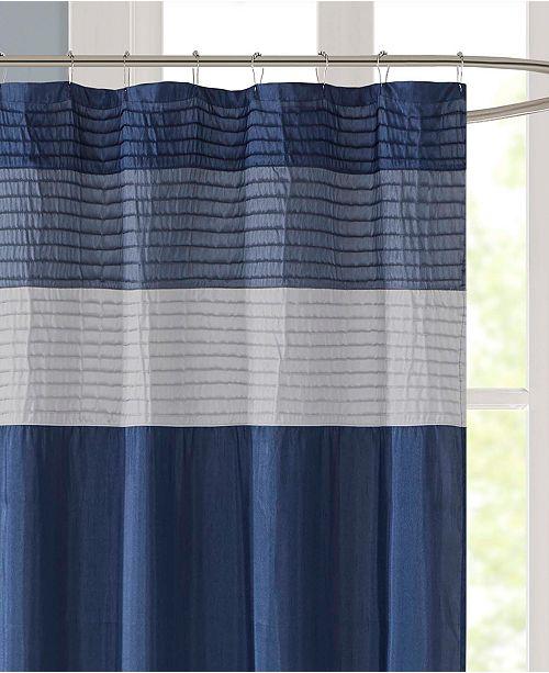 JLA Home Sorrel 72 X Faux Silk Shower Curtain