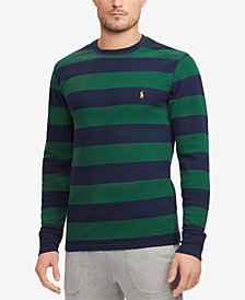 Polo Ralph Lauren Men's Striped Waffle-Knit Crew-Neck Shirt