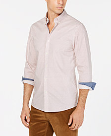 Michael Kors Men's Slim-Fit Micro-Floral Shirt