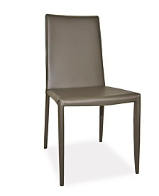 Lusso Dining Chair Charcoal-Set Of Two