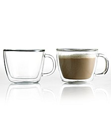 Bistro Cafe Set of 2 Double Walled 15 Oz. Latte Cups