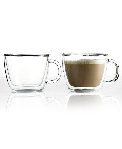 Bodum Bistro Cafe Set of 2 Double Walled 15 Oz. Latte Cups