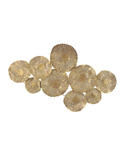 Moe's Home Collection Large Circles Wall Decor Gold