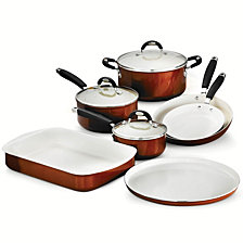 Tramontina Style Ceramica Metallic Copper 10 Pc Cookware/Bakeware Set