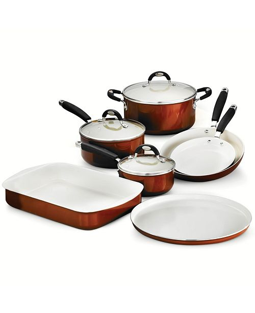 Tramontina Style Ceramica Metallic Copper 10 Pc Cookware/Bakeware Set