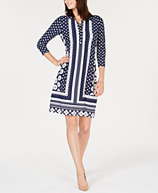 Charter Club Petite Collared Shift Dress, Created for Macy's