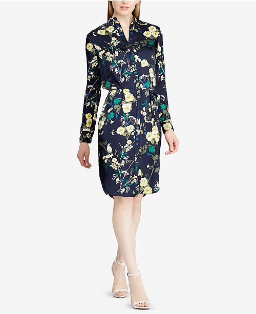 45deaae7d5b1e Lauren Ralph Lauren Floral-Print Twill Shirtdress   Reviews - Dresses ...