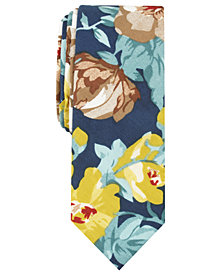 Penguin Men's Zellar Floral Skinny Tie