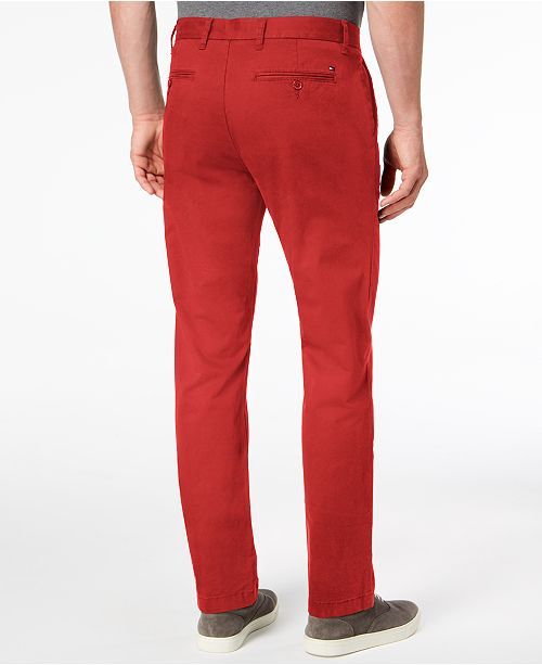 84a06d282 ... Tommy Hilfiger Men's TH Flex Stretch Custom-Fit Chino Pant, Created for  Macy's ...