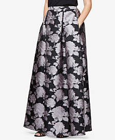 Alex Evenings Floral-Print Maxi Skirt