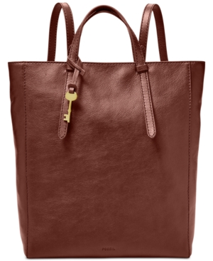 Image of Fossil Camilla Convertible Large Leather Backpack