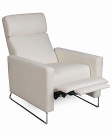 Casdia Leather Pushback Recliner