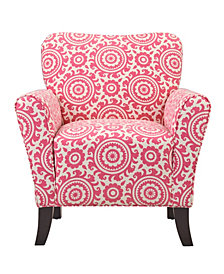 Sean Arm Chair in Magenta Medallion