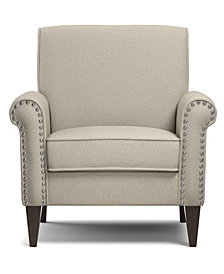 Janet Arm Chair in Taupe Linen