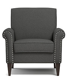 Janet Arm Chair in Charcoal Linen