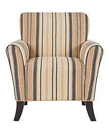 Sean Arm Chair in Brown & Black Stripe