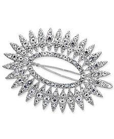 I.N.C. Silver-Tone Crystal Oval Hair Barrette, Created for Macy's