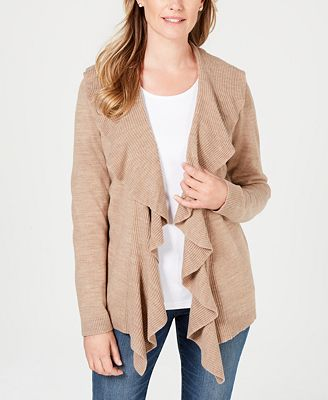 Karen Scott Ruffled Cardigan Created For Macys Sweaters Women