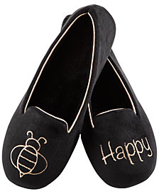 Isotoner Signature Women's Velour Conversational Slippers