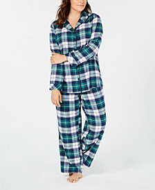 Matching Family Pajamas Plus Size Women's Mackenzie Plaid Pajama Set, Created for Macy's