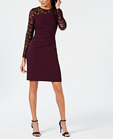 Ivanka Trump Lace-Trim Sheath Dress