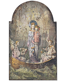 3R Studio Vintage Mary & Angels Wood Wall Décor