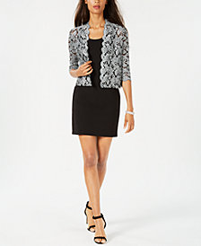 Jessica Howard Petite Lace Jacket & Sheath Dress