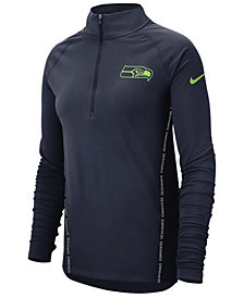Nike Women's Seattle Seahawks Element Core Quarter-Zip Pullover