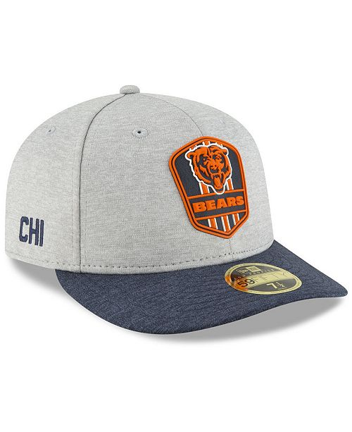 super popular b6c9b 552c0 Chicago Bears On Field Low Profile Sideline Road 59FIFTY FITTED Cap ...
