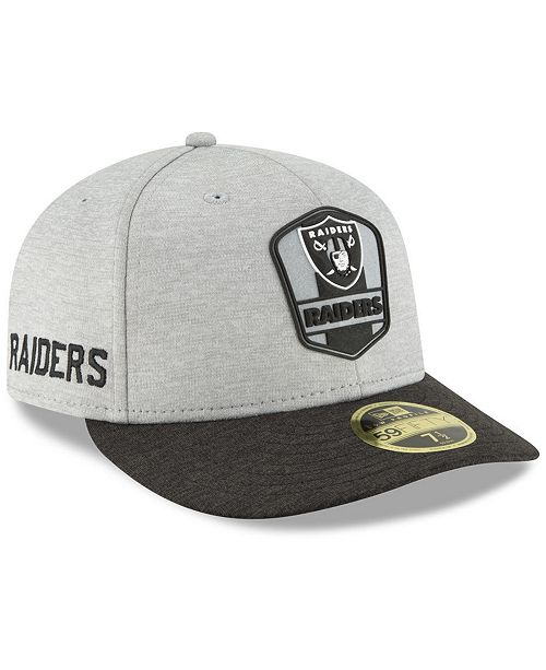 c70c9e4b574 New Era Oakland Raiders On Field Low Profile Sideline Road 59FIFTY ...