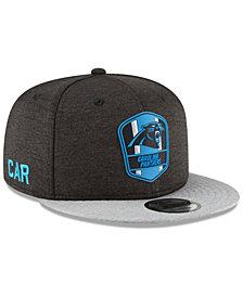 New Era Carolina Panthers On Field Sideline Road 9FIFTY Snapback Cap