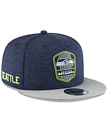 New Era Seattle Seahawks On Field Sideline Road 9FIFTY Snapback Cap