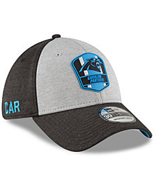 New Era Carolina Panthers On Field Sideline Road 39THIRTY Stretch Fitted Cap