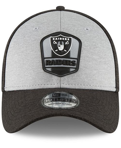 5d4733d9 New Era. Oakland Raiders On Field Sideline Road 39THIRTY Stretch Fitted Cap.  Be the first to Write a Review. main image; main image; main image ...