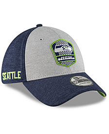New Era Seattle Seahawks On Field Sideline Road 39THIRTY Stretch Fitted Cap