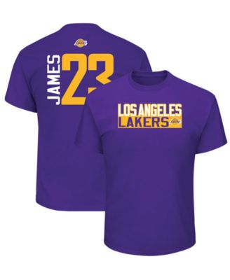 83f75c4ae Majestic Men s LeBron James Los Angeles Lakers Vertical Name and Number  T-Shirt   Reviews - Sports Fan Shop By Lids - Men - Macy s